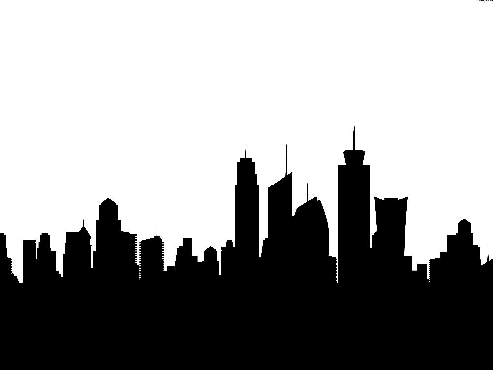 Skyscraper PNG Black And White - 87006