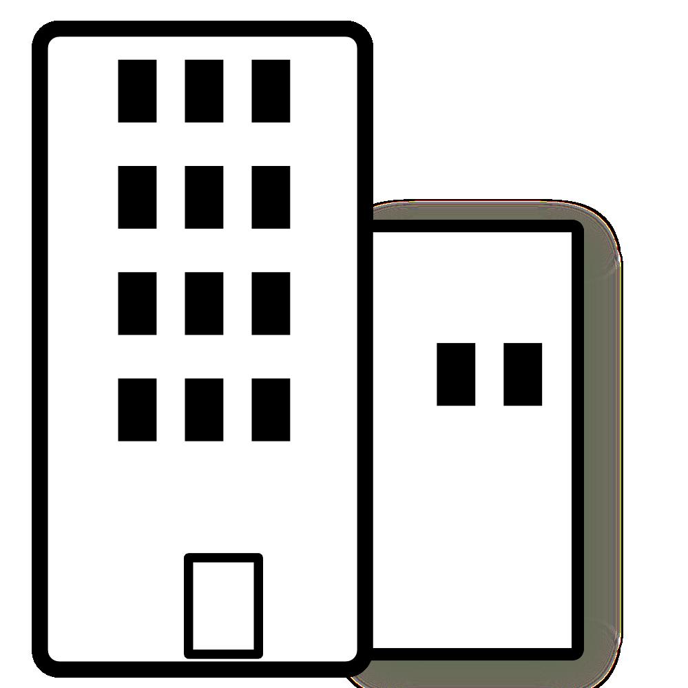 Skyscraper PNG Black And White - 87012