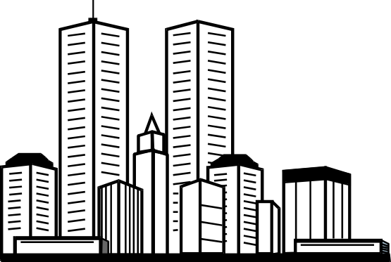 Skyscraper PNG Black And White