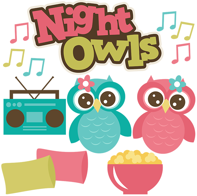 Night Owls SVG files sleepover svg files popcorn svg file pillow svgs owl  svg file friends svgs - Sleepover PNG HD
