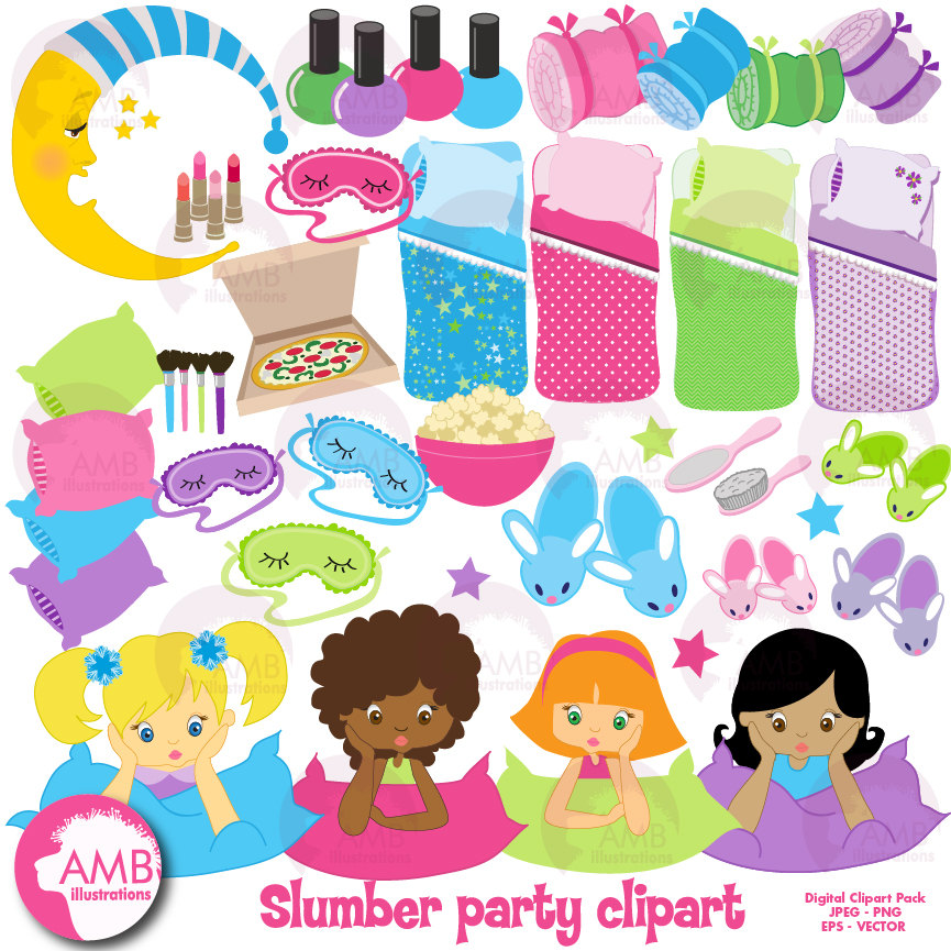 sleepover clipart slumber party clipart sleep over clipart girls spa night  classroom clipartclipart download wallpaper - Sleepover PNG HD