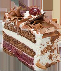 Black Forest cake slice - PNG Slice Of Cake - Slice Of Cake PNG HD