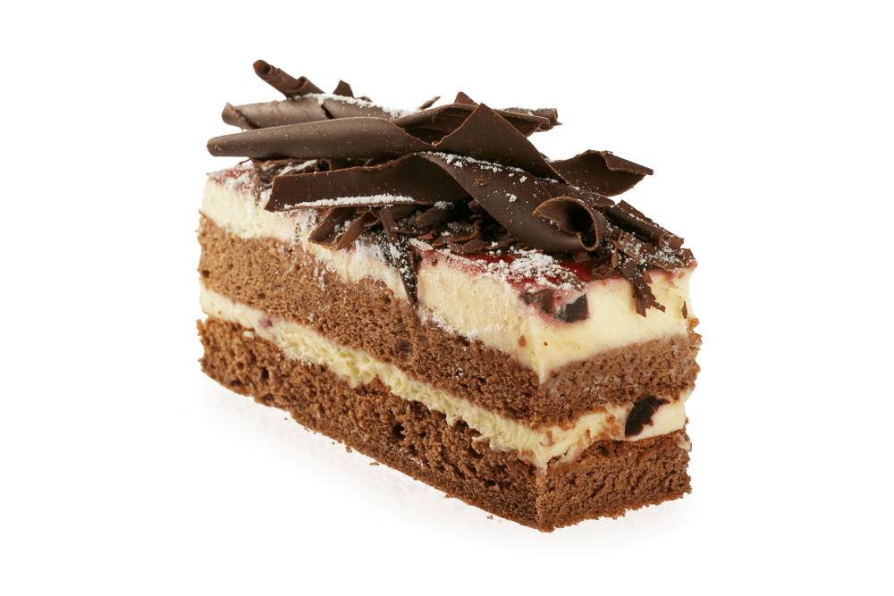 Chocolate Cake Slice - Slice Of Cake PNG HD