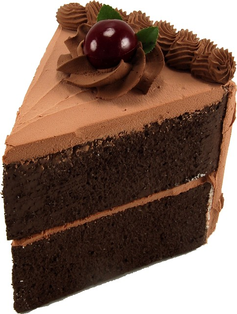 chocolate fake cake slice - Slice Of Cake PNG HD