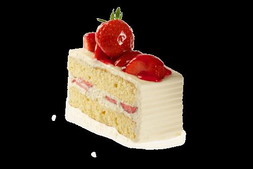 Strawberry Cake Slice - Slice Of Cake PNG HD