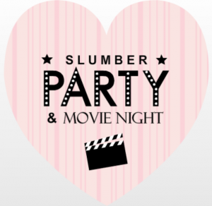 pink and black slumber u0026 movie night invite teen slumber party movies slumber party png
