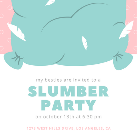 Set the right tone and get the party vibes rolling with the perfect slumber  party invite! Check out our selection of cute and charming templates and  find a PlusPng.com  - Slumber Party PNG HD