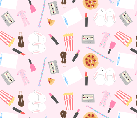 slumber party fabric by kategabrielle on Spoonflower - custom fabric - Slumber Party PNG HD