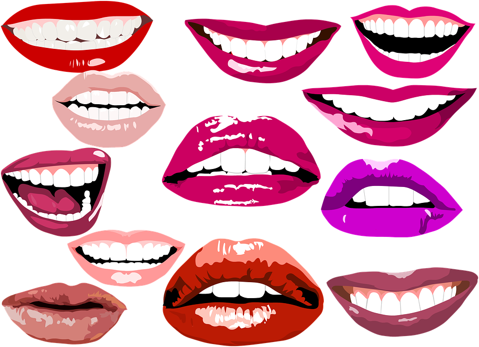 Adult Content SafeSearch Smile Lips Make Up Teeth Dental Whitening - Smiling Lips PNG HD