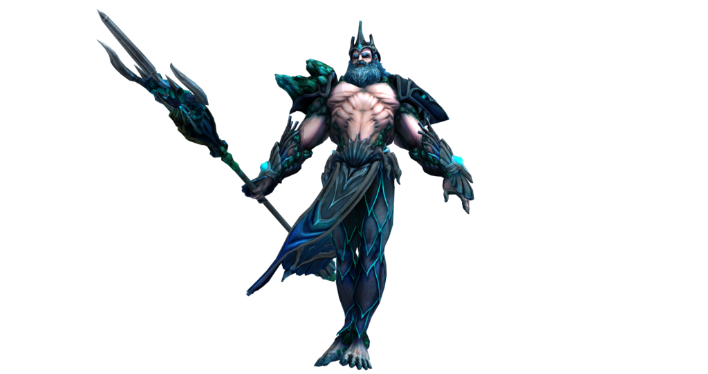 Smite renders poseidon secondary by kaiology-d9covfd.png - Smite PNG