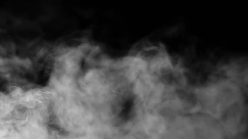 Smoke On Black Background - H