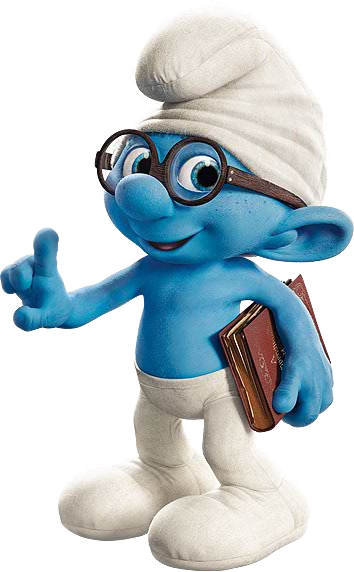 Brainy Smurfmovie.png - Smurf PNG