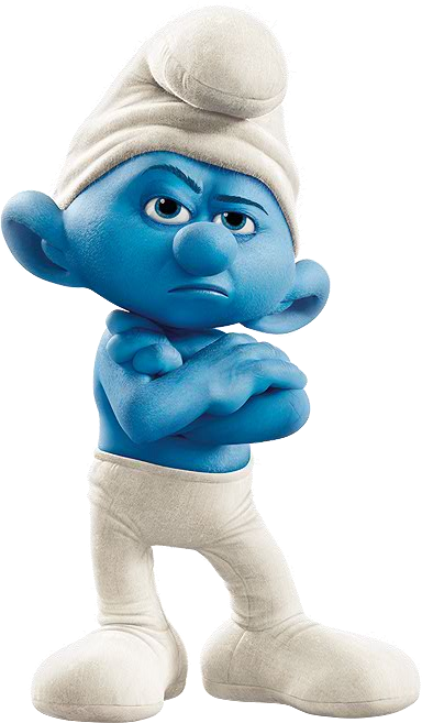 Movie Grouchy Smurf.png - Smurf PNG