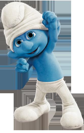 Mu-man-smurf.png - Smurf PNG