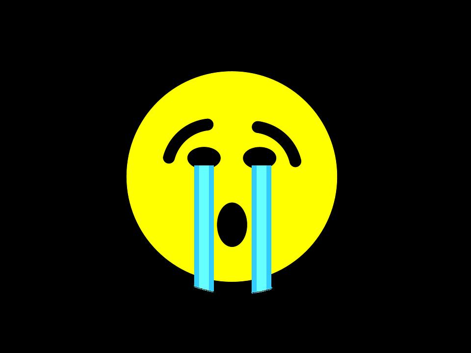 Emoji, Płacz, Emotikon, Twarz, Smutny, Wyrażenie, Ikona - Smutek PNG