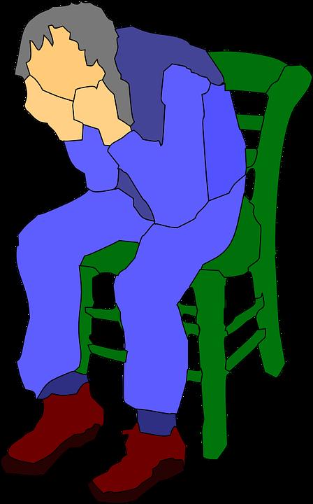 Smutek, Człowiek, Stary, Ludzie, Guy, Krzesło, Myślenia - Smutek PNG