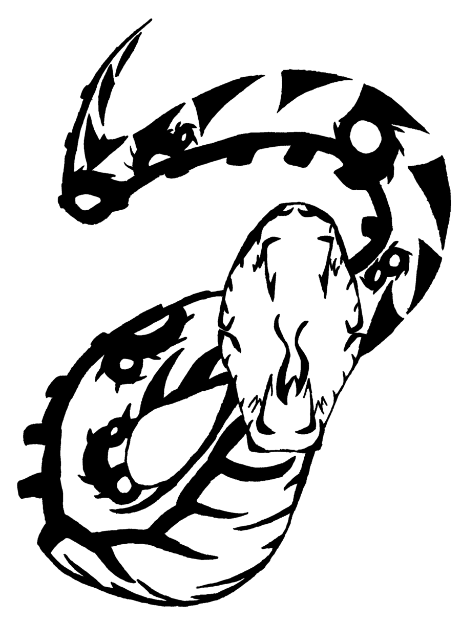 Snake Tattoo PNG - 3597