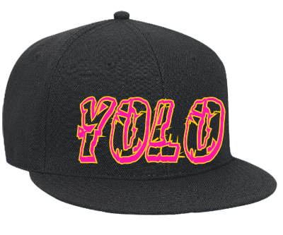 yolo - Snapback Flat Bill Hat - 125-978 - 125-9782034 - Custom Heat Pressed  - CustomPlanet pluspng.com - Snapback PNG