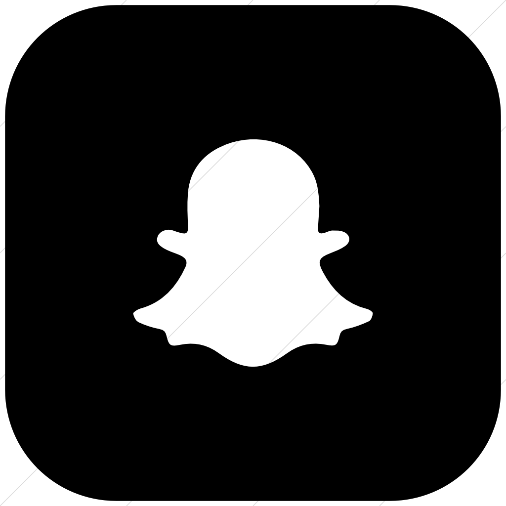 Foundation 3 Social Snapchat Icon » Style: Flat Rounded Square White image  #1723 - Snapchat PNG
