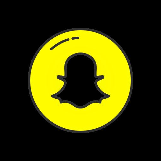 snapchat,circle. PNG - Snapchat PNG