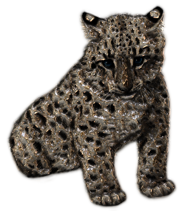 Snow Leopard, Metallizer, Art, Factory, Glass - Snow Leopard PNG