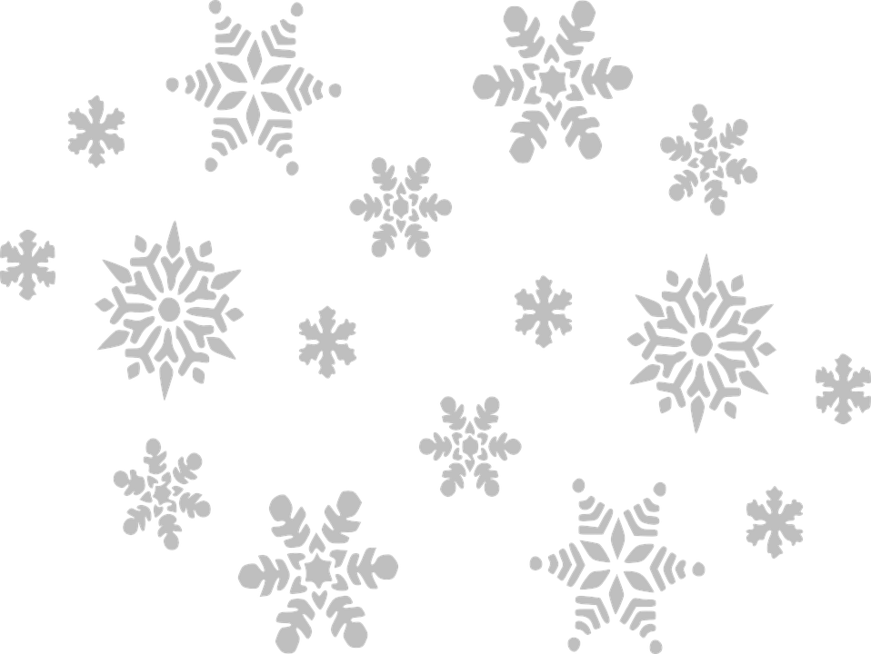 Snowflake, Gray, Fall, Sky, Grey, Winter - Winter Snow PNG