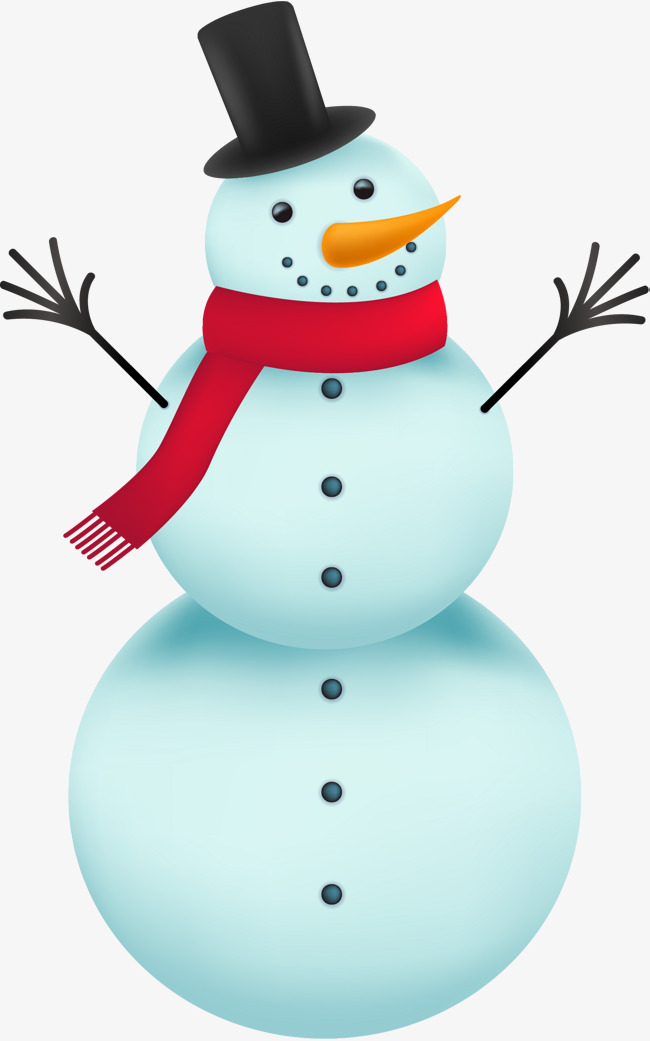 cartoon blue snowman, Cartoon, Blue, Snowman PNG Image and Clipart - Snowman Free PNG