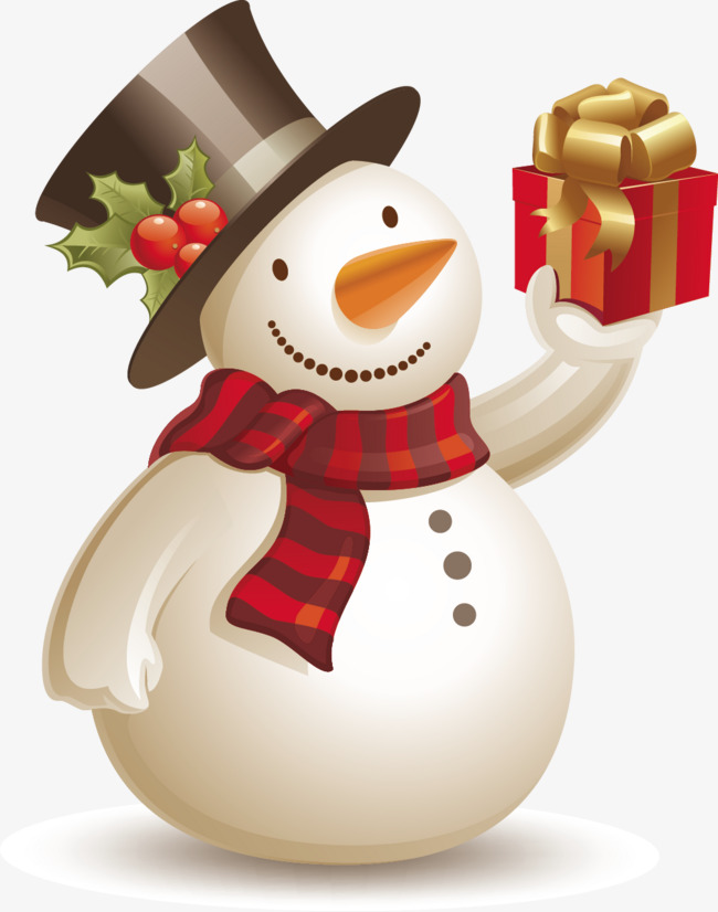 vector snowman gifts, Vector, Gift, Christmas Snowman PNG and Vector - Snowman Free PNG