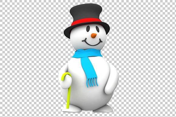 Snowman - 3D Render PNG - Graphics - Snowman HD PNG