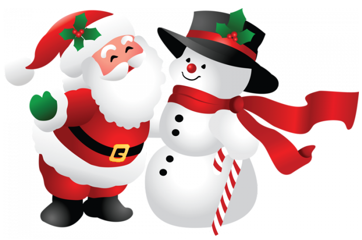 Snowman And Santa Claus PNG - Snowman PNG