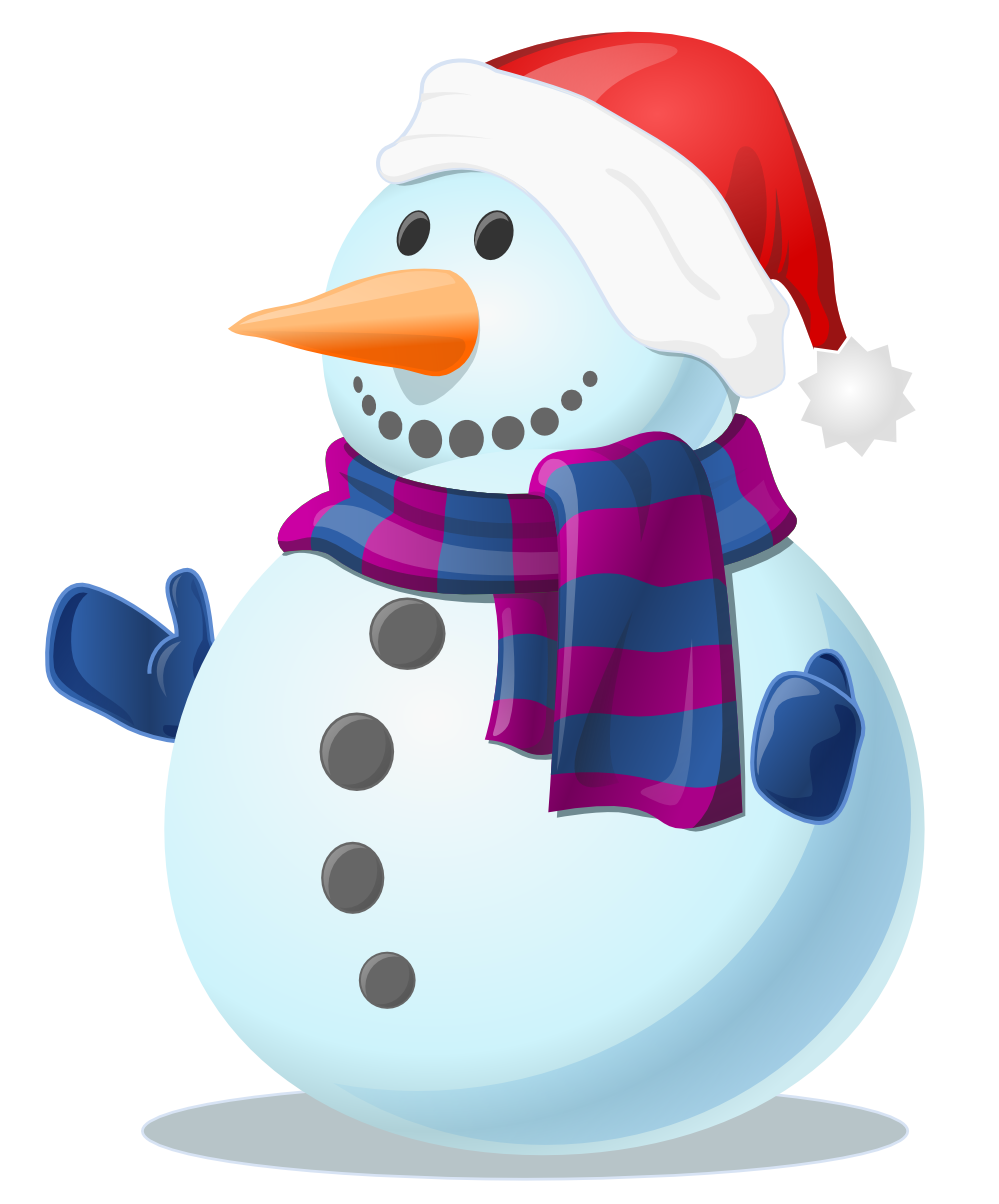 snowman picture with hat and