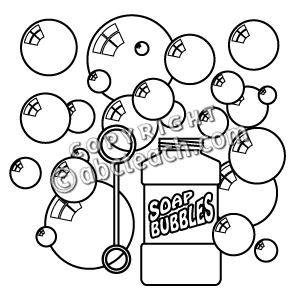 Soap Bubbles PNG Black And White - 163435