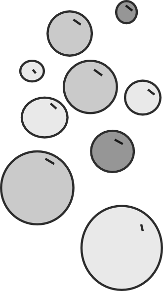 Soap Bubbles PNG Black And White