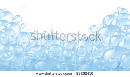 Bubbles foaming and transparent bath soap suds with bubble composition at  the bottom floating as clean - Soap Suds PNG