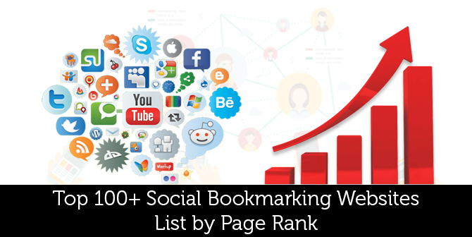 Top 100  Social Bookmarking Websites List by Page Rank - Social Bookmarking PNG