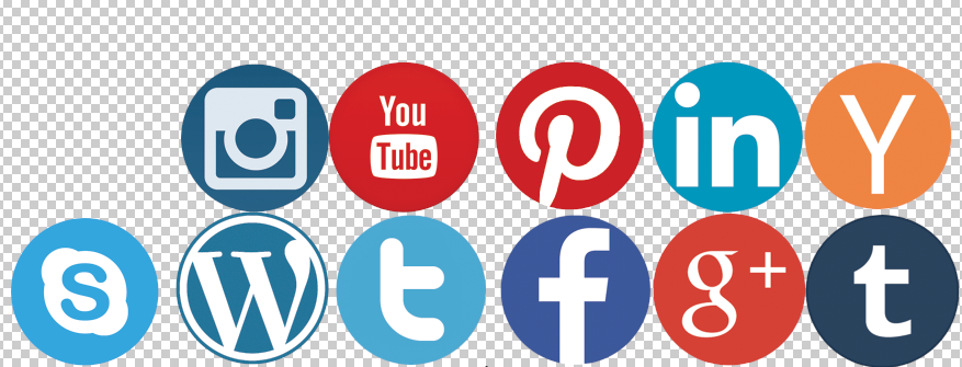 Flat Social Network Icons - Social Icons PNG