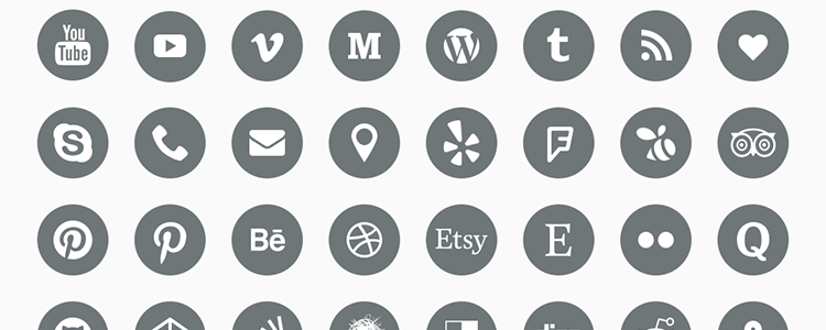 Social Icons .sketch (48 Icons In Sketch Formats) - Social Icons PNG