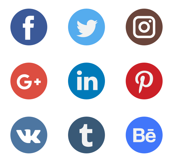 Social Network Logo Collection - Social Icons PNG
