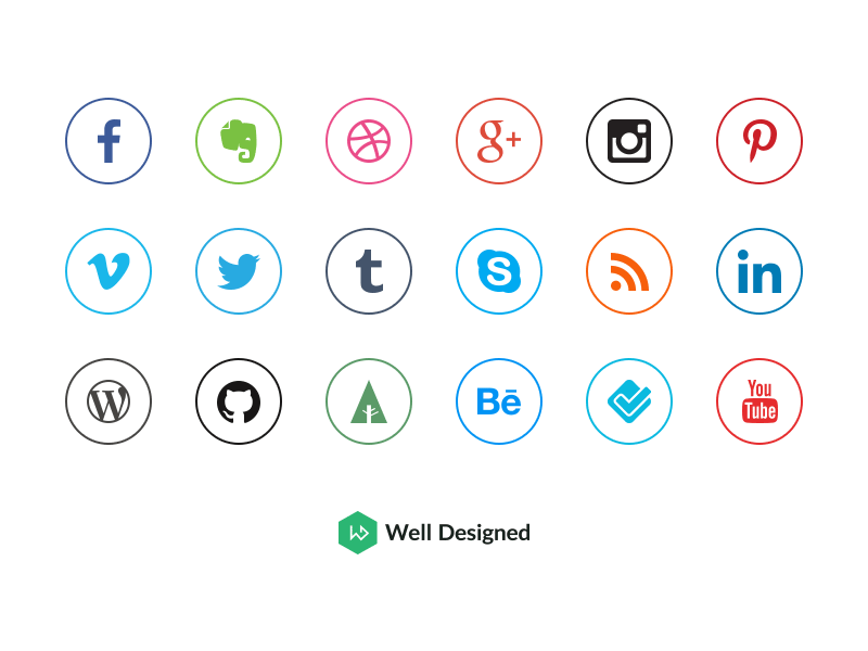 Social Media Icons by Dawid Dapszus - Social Media Icons PNG