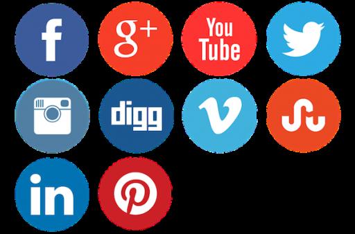 Format PNG Social Media Icons Png - Social Media PNG