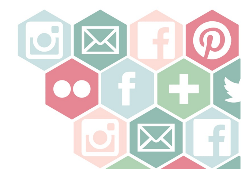 Geometric Social Media Icons - Social Media PNG