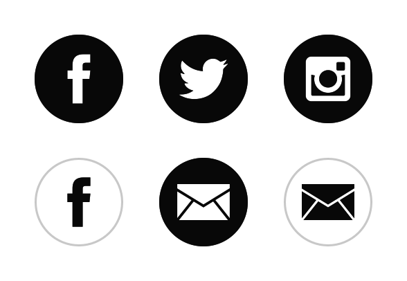 Iconset:black-white-social-media icons - Download 94 free u0026 premium icons  on Iconfinder - Social Media PNG