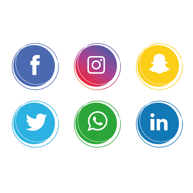 Social media icons set. facebook, instagram, Whatsapp,, Social, Media, - Social Media PNG