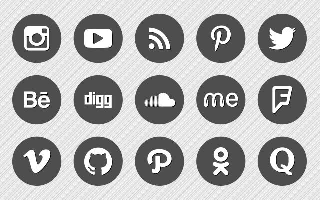 200  Premium Round Vector Social Media Icons - Social Media Vector PNG