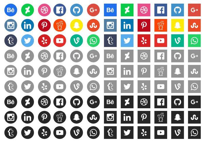 Free Social Media Icons - Social Media Vector PNG