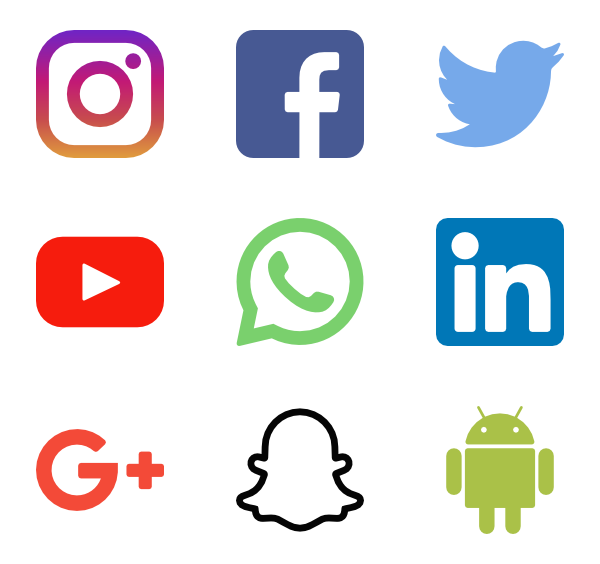 Social Media Logos - Social Media Vector PNG