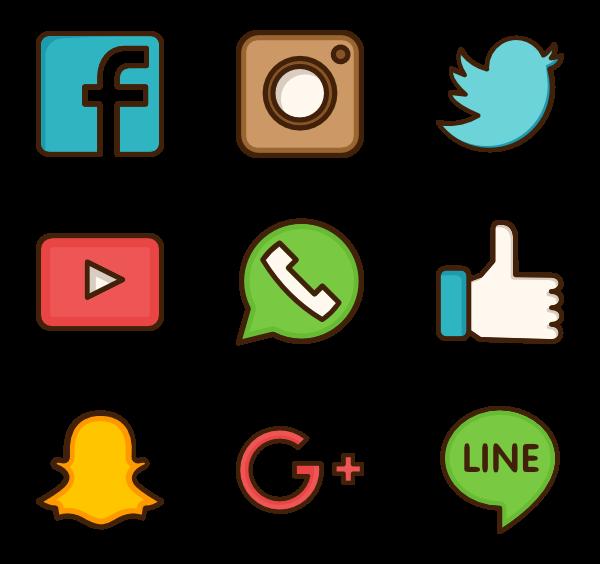 Social Media Vector PNG