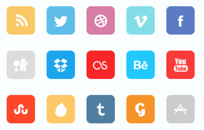 Premium Flat Social Icon Set - Social Networking PNG HD