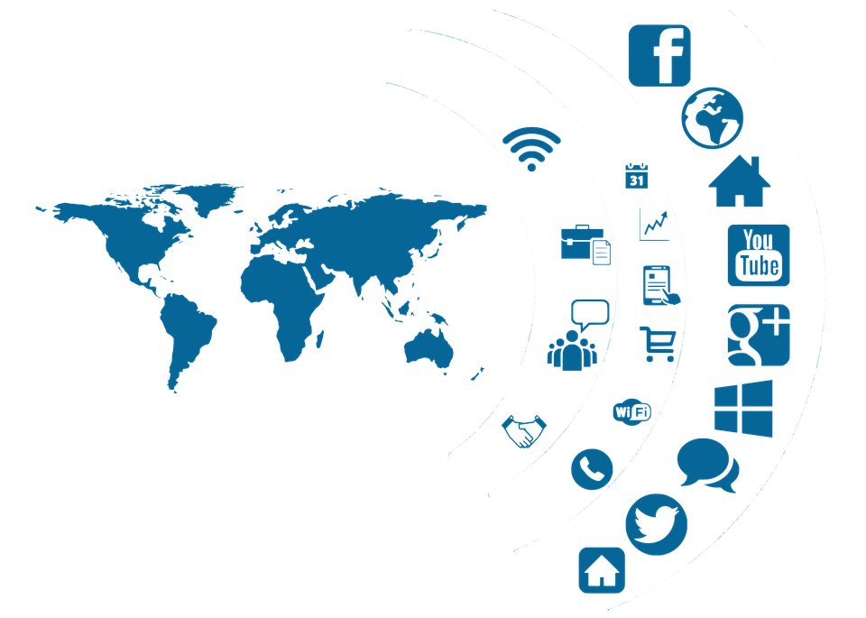 Social Media Icon Continents Globe Country - Social Networking PNG HD