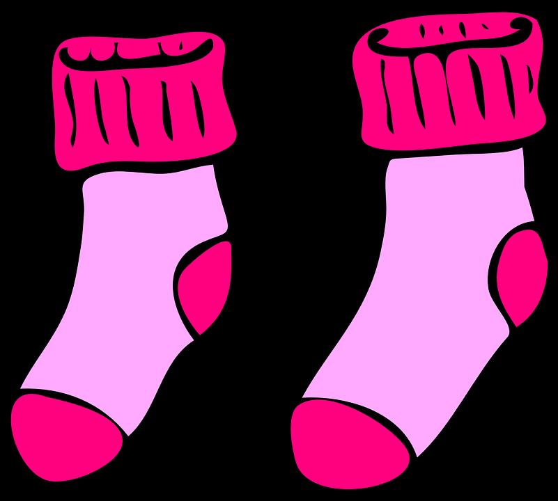 Socks, Cute, Pink, Winter, Wa